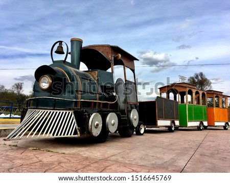 The train un the park