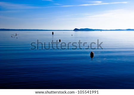 The tranquility of Lake Bolsena in Italy