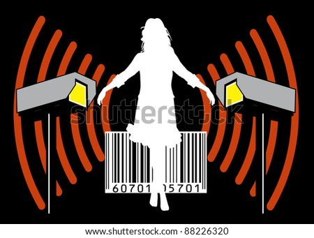 The transparent society: Warning signal of potential misuse of data and loss of privacy - stock photo