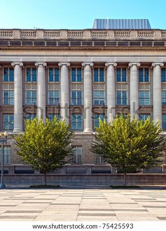 The Treasury Building in Washington, D.C. - stock photo