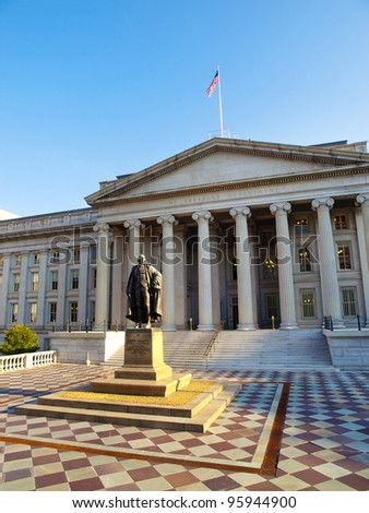 The Treasury Building in Washington, D.C., USA