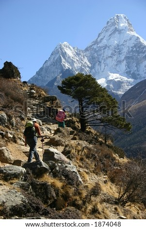 The Trek to Base Camp, Everest Region, Nepal
