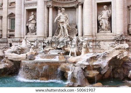 "The ""Trevi Fountain"" - stock photo"