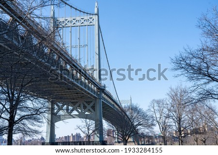 The Triborough Bridge (known officially as the Robert F. Kennedy Bridge, and also known as the RFK Bridge) Stock fotó ©