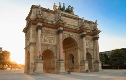 The Triomphal Arch of Carroussel in Paris, France.