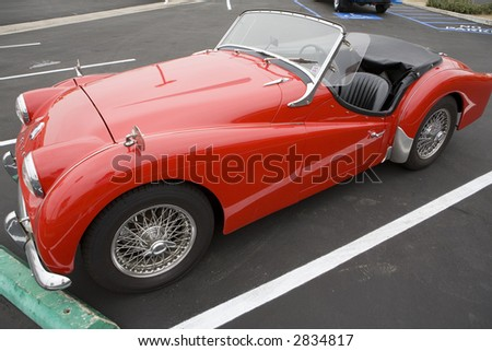 Sport Cars on The Triumph Tr 3 Was A Popular Sports Car Of The 1950s And 1960s Stock