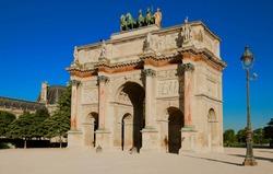 The Triumphal Arch of Carroussel in Paris, France.