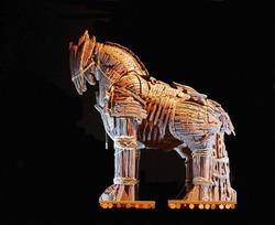The Trojan Horse of Canakkale on Black