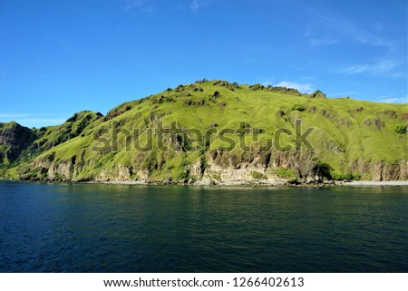 The tropical island look so quite, nothing civilization and ancient ruins this is the real untouched island  #1266402613