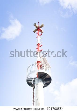 The tsunami warning tower. Thailand.
