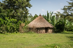 The tukul - the traditional round hut - in a village in Ethiopia