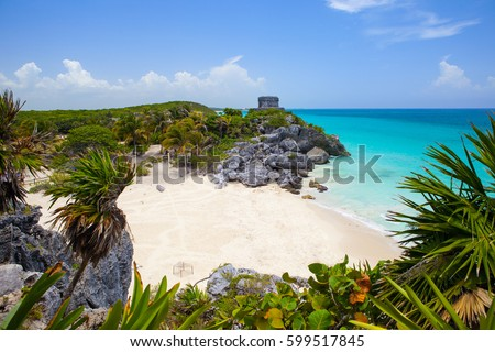 Shutterstock The Tulum ruins in the Riviera Maya south of Cancun Mexico