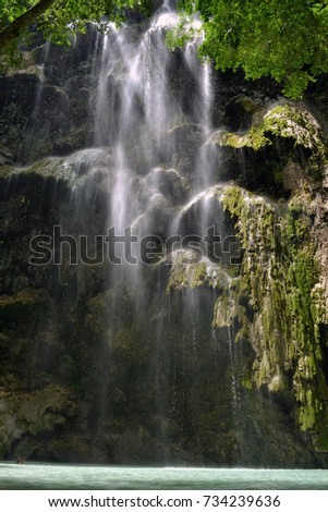 The Tumalog waterfall in Oslob, Philippines. Pic was taken in Cebu, the Philippines - September 2015.