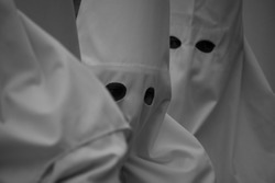 the tunics of penitents in procession