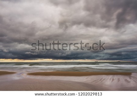 The turbulent Baltic sea before the storm came. Stok fotoğraf ©
