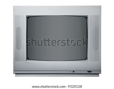 The TV isolated on a white background.