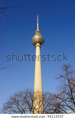 The TV tower on Alexanderplatz, Berlin, Germany