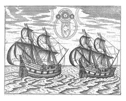 The two ships of Barendsz and Van Heemskerck and a celestial phenomenon