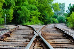 The Two Way Split at the Train Tracks