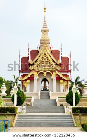 The Udonthani city pillar shrine, Famous place to travel at Udonthani, Thailand