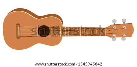 The Ukulele is a pulsed string instrument similar to a small-sized guitar and has four strings.