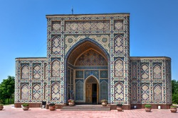 The Ulugh Beg Observatory in Samarkand, Uzbekistan. Built in the 1420s by astronomer Ulugh Beg, it is considered by scholars to have been one of the finest observatories in the Islamic world.