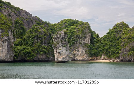 The unbelievable Halong Bay from boat, Vietnam