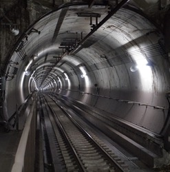 The underground tunnel for trains