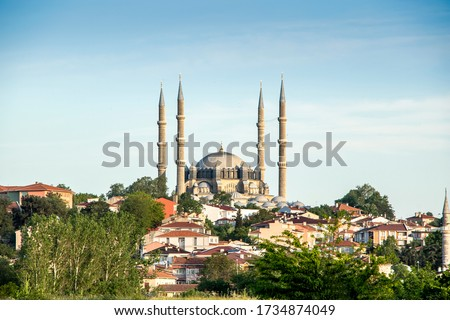 Photo of  The UNESCO World Heritage Site Of The Selimiye Mosque, Built By Mimar Sinan In 1575, Edirne, Turkey. The Selimiye Mosque is an Ottoman imperial mosque, which is located in the city of Edirne.