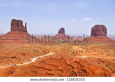 The unique beautiful landscape of Monument Valley, Utah, USA