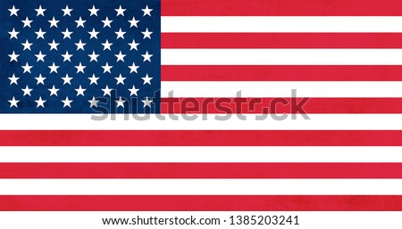 The United States of America Flag. stock photo