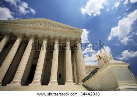 The United States Supreme Court building, Washington, DC.