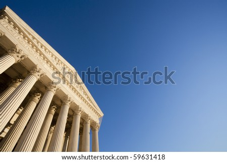 The United States Supreme Court; copy space.