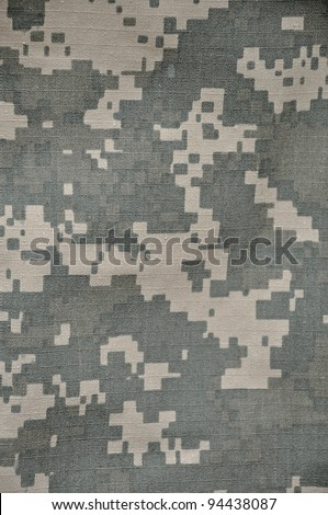 The Universal Camouflage Pattern, also referred to as Army Combat Uniform Pattern) or Digital Camouflage is the military camouflage pattern currently in use in the USA's Army Combat Uniform.