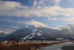The Unterberghorn in kaiser mountains