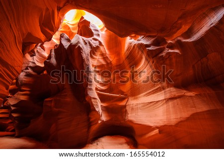 the upper antelope canyon  page ...
