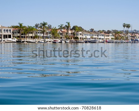 The upper bay area of beautiful Newport Beach, California, USA.