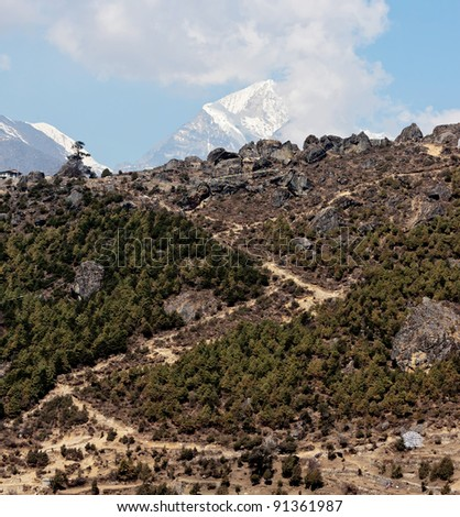 The upper paths from Namche to Thame - Nepal, Himalayas