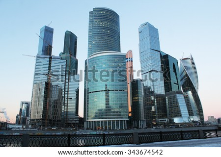 The urban landscape of large cities and megacities #343674542