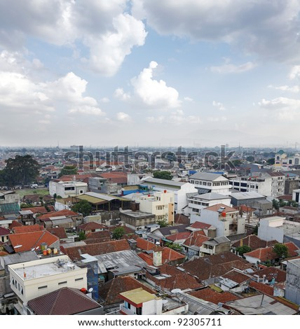 Indonesia City Population Populated Bandung City in