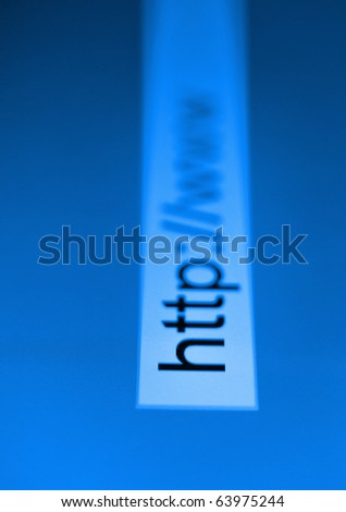 The URL - stock photo