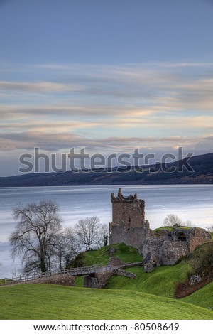 The Urqhart Castle near by Ness Loch, Scotland