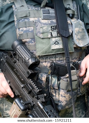 The US Army Soldier's weapons and gear