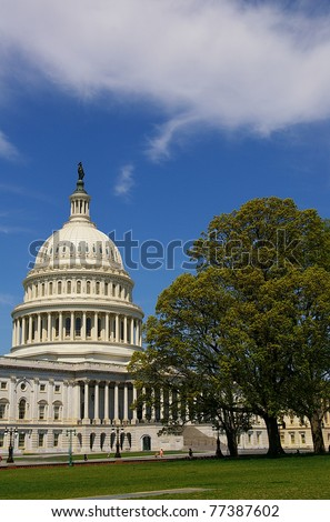 The US Capitol building in Washington, DC - stock photo