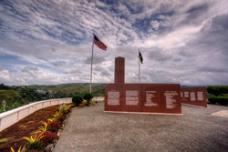 The US military memorial in Honiara to commemorate the naval battle of Guadalcanal
