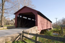 The Utica Covered Bridge located in Thurmont, Maryland.