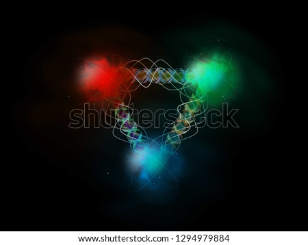 The 3 valance Quarks that form a Proton inside nucleus. These quarks have color charge. For a particle to exist the net color must be white. A red, blue and green quark makes a hadron, (the H in LHC)