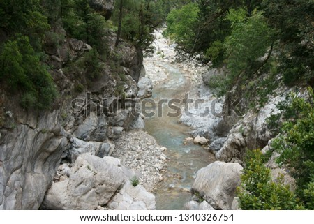the valley of a mountain river Cool mountain river
