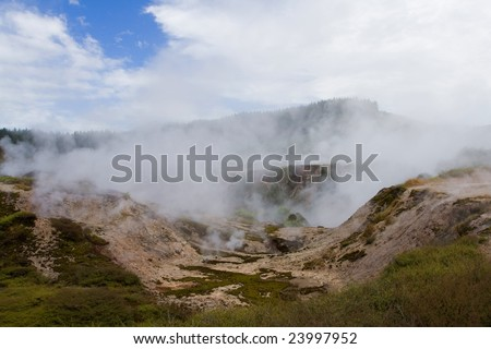 the valley of geysers in new zealand