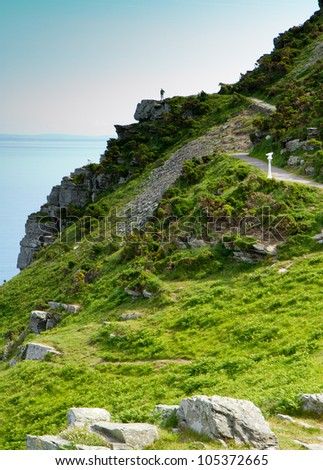 The Valley of Rocks near Lynton and Lynmouth Devon.  Part of the South-West coastal path.